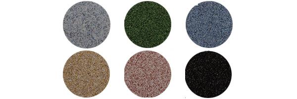 Gama de colores minerales